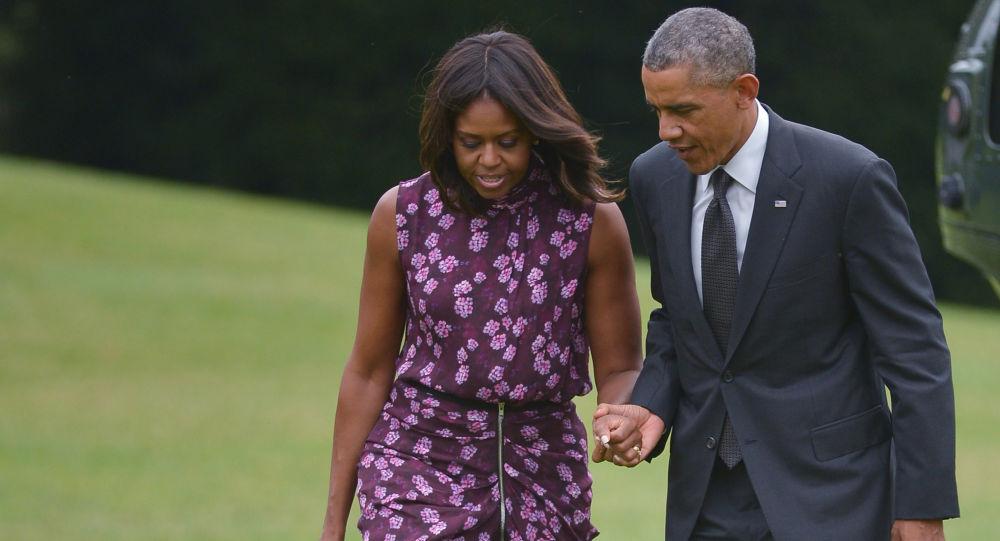Barack Obama a jeho žena Michelle