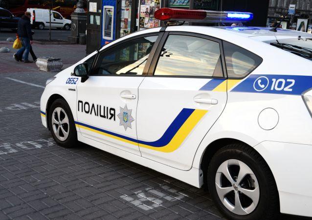 Vůz ukrajinských policistů