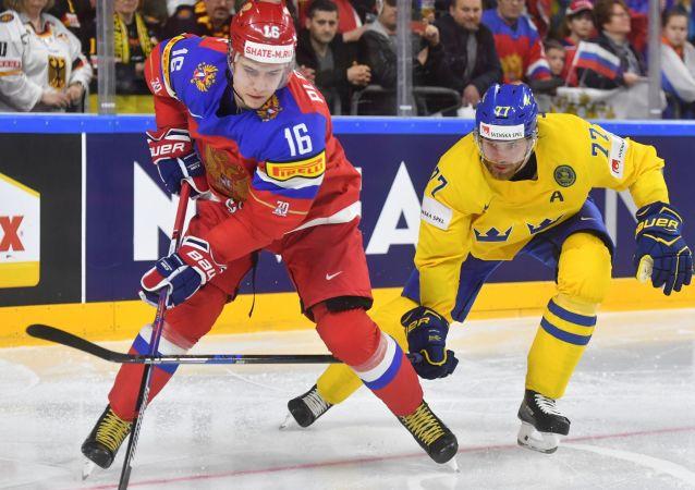 Hokejisté Ruska a Švédska