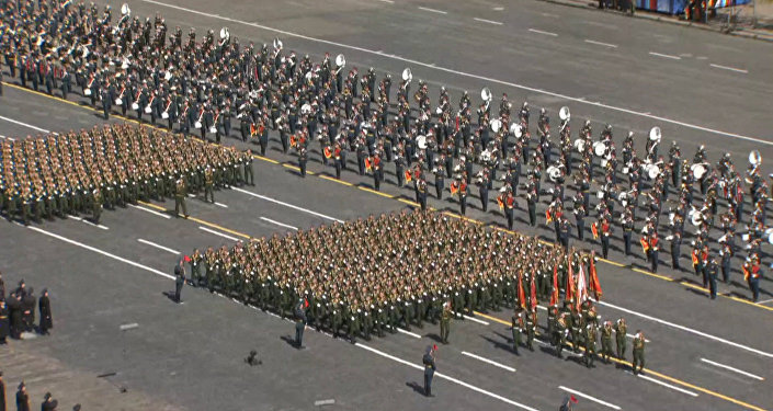 Generální zkouška Přehlídky vítězství na Rudém náměstí