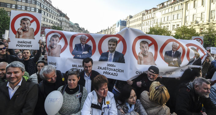 Protesty na Václavském náměstí v Praze, 10.05.2017