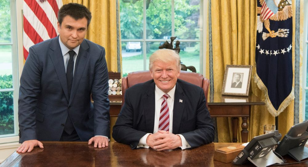 Pavel Klimkin a Donald Trump