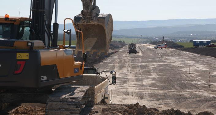 Výstavba federální silnice Tavrida