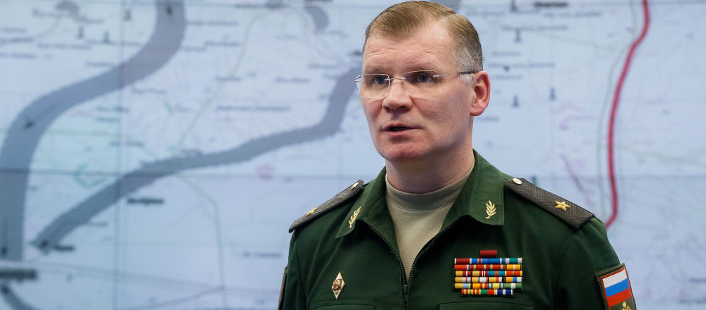 Oficiální mluvčí ministerstva generálmajor Igor Konašenkov