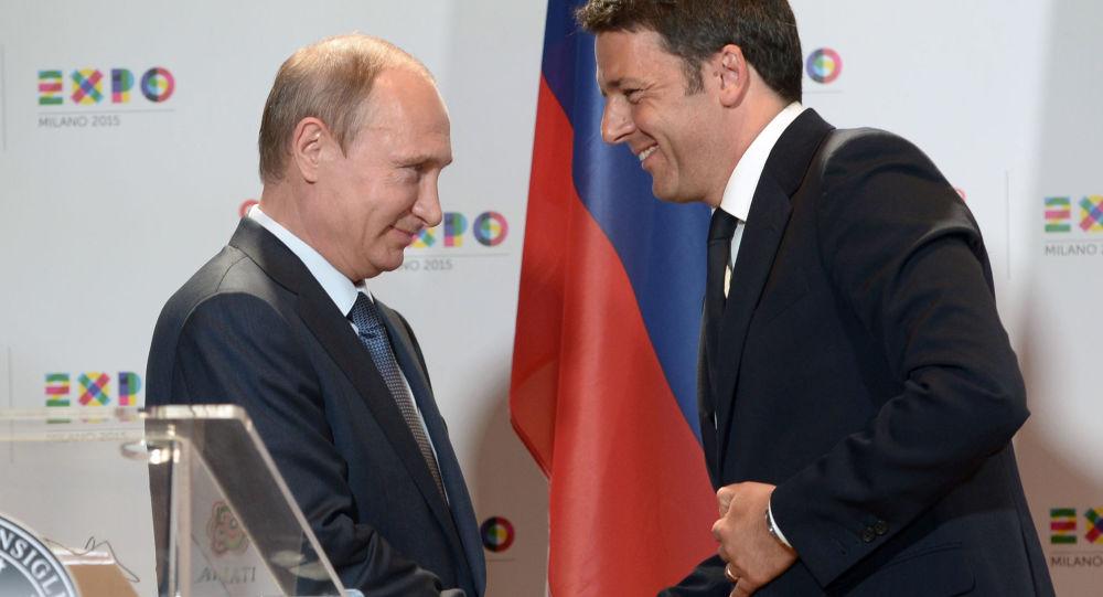 Vladimir Putin a Matteo Renzi