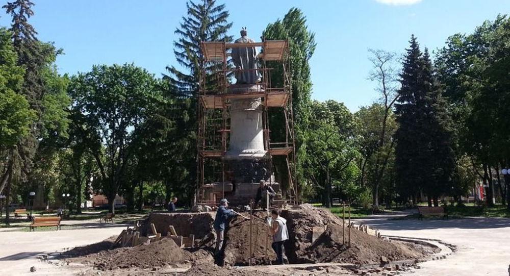 Pomník hejtmana Bohdana Chmelnického v Černigově
