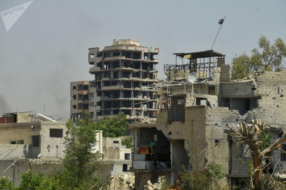 Život ve čtvrti Kabun na periferii Damašku