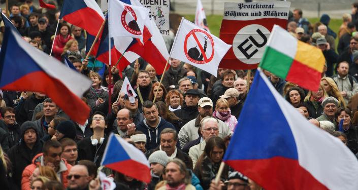 Ilustrační foto: Protestní akce proti migrantům v Praze