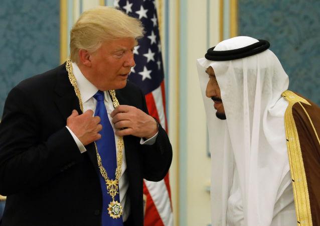 Král Saúdské Arábie Salman ben Abdel Asis al Saud a prezident USA Donald Trump