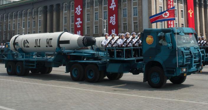 Přehlídka v Pchjongjangu