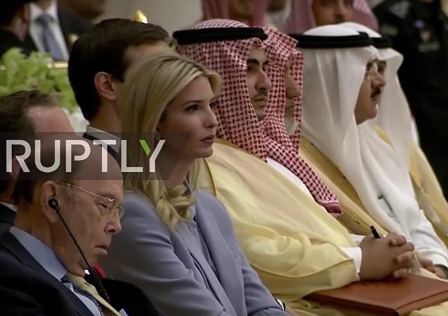 Americký ministr obchodu si zdříml během Trumpova projevu v Saúdské Arábii