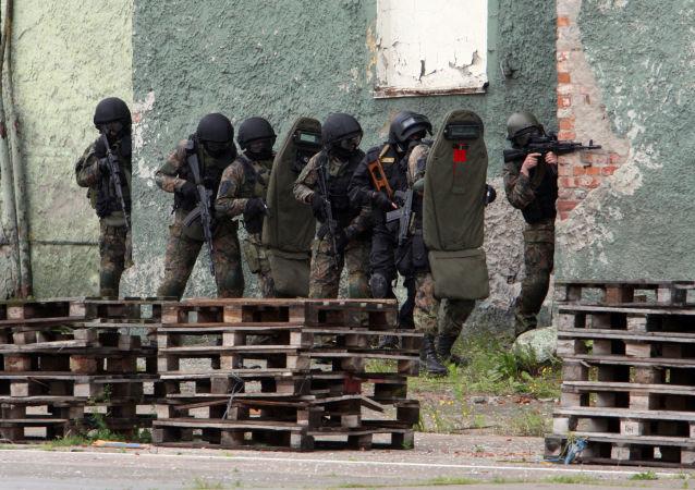 Příslušníci FSB během cvičení
