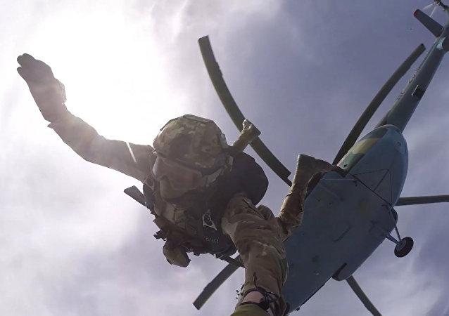 Cvičení Speciální jednotky Federální služby na Krymu
