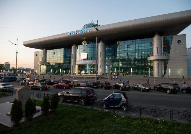 Pohled na nádraží v Kyjevě