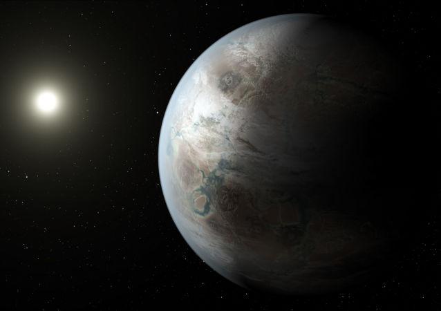 Exoplaneta Kepler-452b v podání malíře