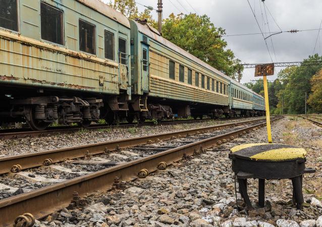 Starý vlak na Ukrajině