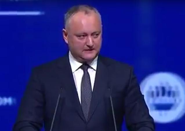 Projev prezidenta Moldavska Dodona na Petrohradském fóru. Celý projev česky