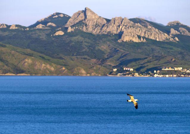 Pohled na přírodní rezervaci na Krymu