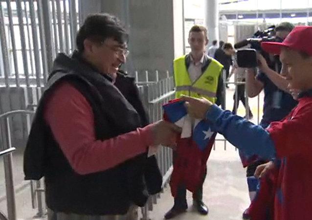 Děti z moskevské fotbalové akademie se připojily do akce Zdvořilý fanoušek