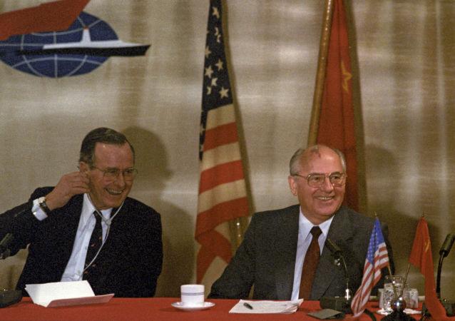 Michail Gorbačov a George H. W. Bush