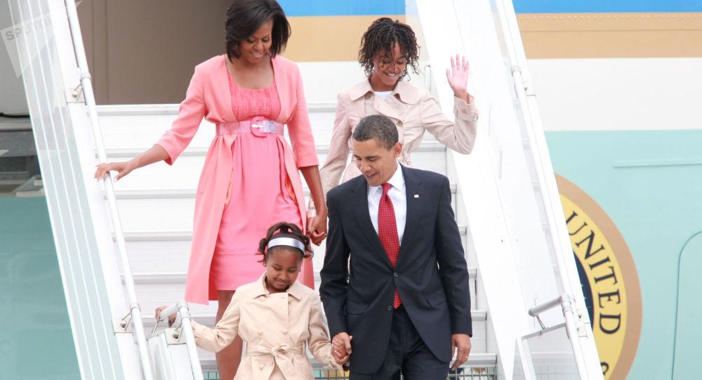 Americký prezident Barack Obama s rodinou