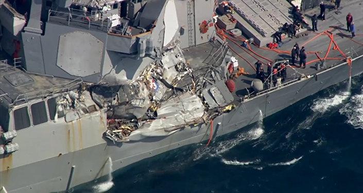 Torpédoborec se srazil s japonské lodí