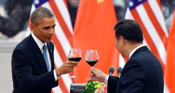 Americký prezident Barack Obama a jeho čínský protějšek Si Ťin-pching