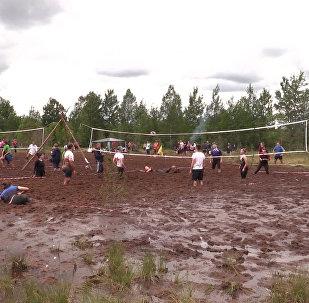 Volejbal v blátě