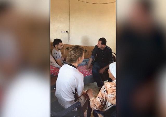 Asad se setkal s válečnými invalidy v provincii Hamá