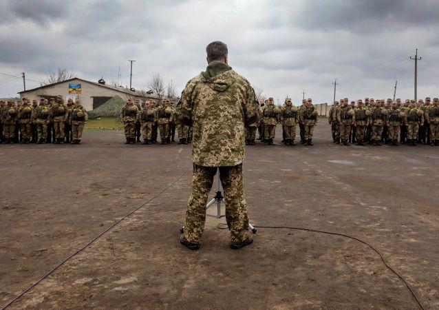 Ukrajinský prezident Petro Porošenko během pracovní návštěvy LLR