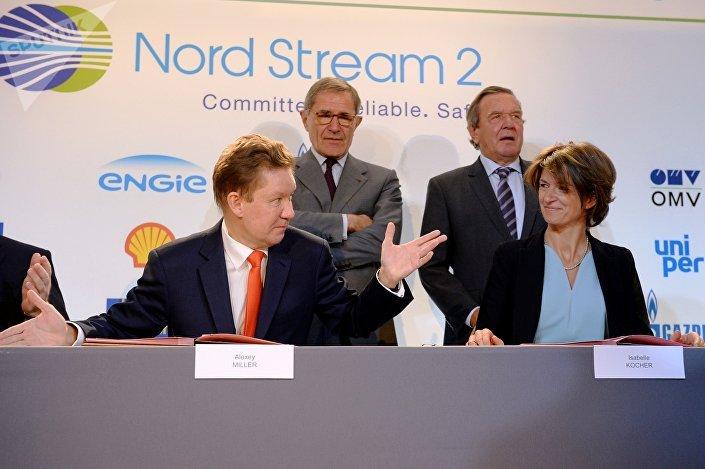 Podepsání smlouvy o financování Severního proudu 2