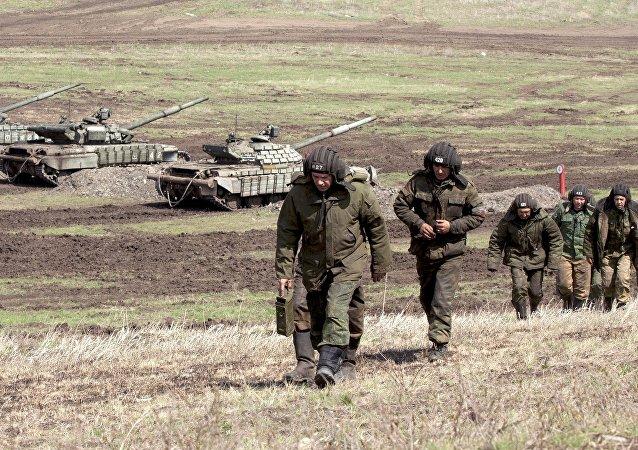 Cvičení Národní milice LLR