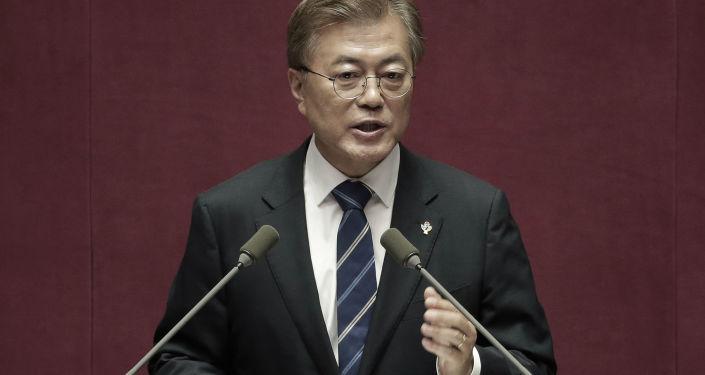 Prezident Korejské republiky Mun Če-in