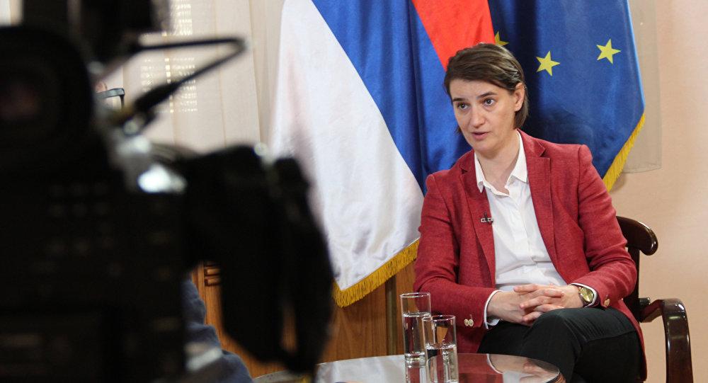 Srbská ministerská předsedkyně Ana Brnabičová
