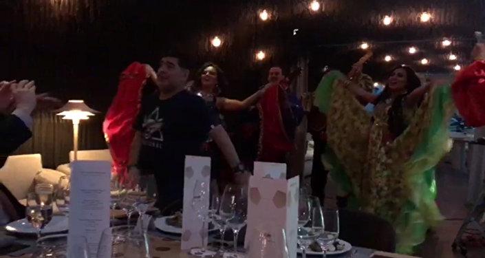 Maradona zapařil s Romy v Moskvě