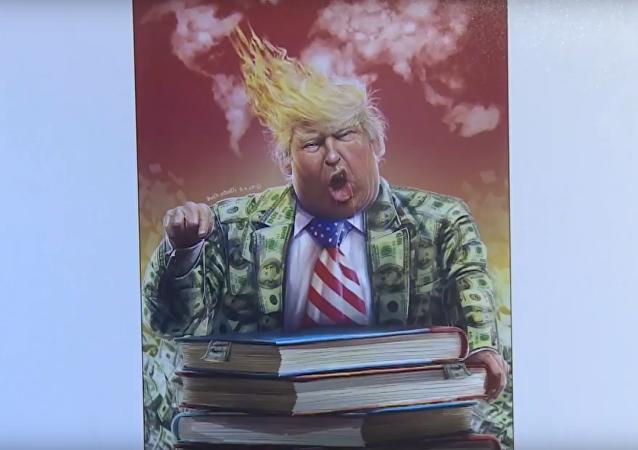 V Íránu vybrali nejlepší karikaturu Donalda Trumpa. Video