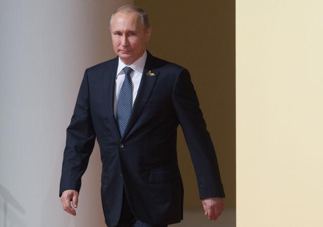 Ruský prezident Vladimir Putin na summitu G20 v Hamburku