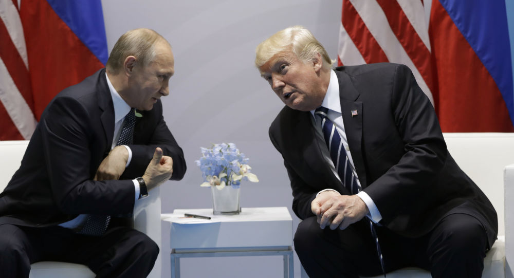 Ruský prezident Vladimir Putin a americký prezident Donald Trump