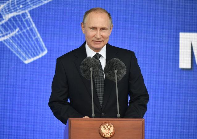 Vladimir Putin na aerosalonu MAKS 2017