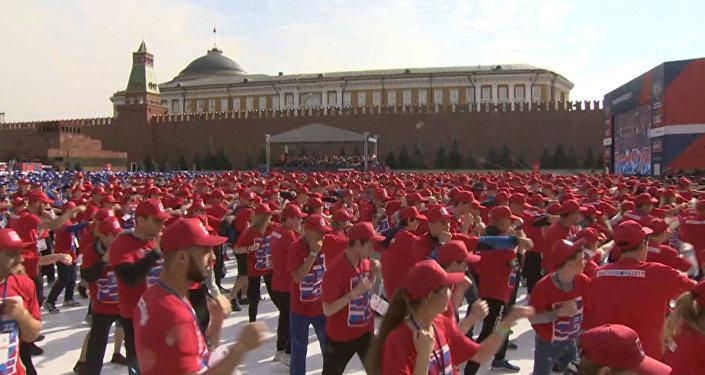 Trénink boxerů na Rudém náměstí
