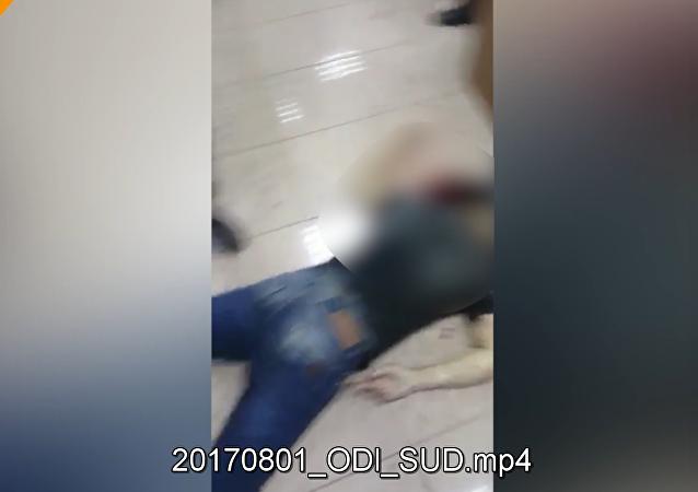 Bylo publikováno video z místa přestřelky v Moskevském oblastním soudu