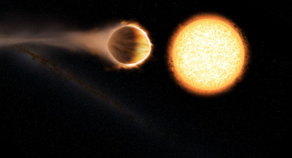 Umělec zobrazil planetu WASP-121b. Ilustrační foto