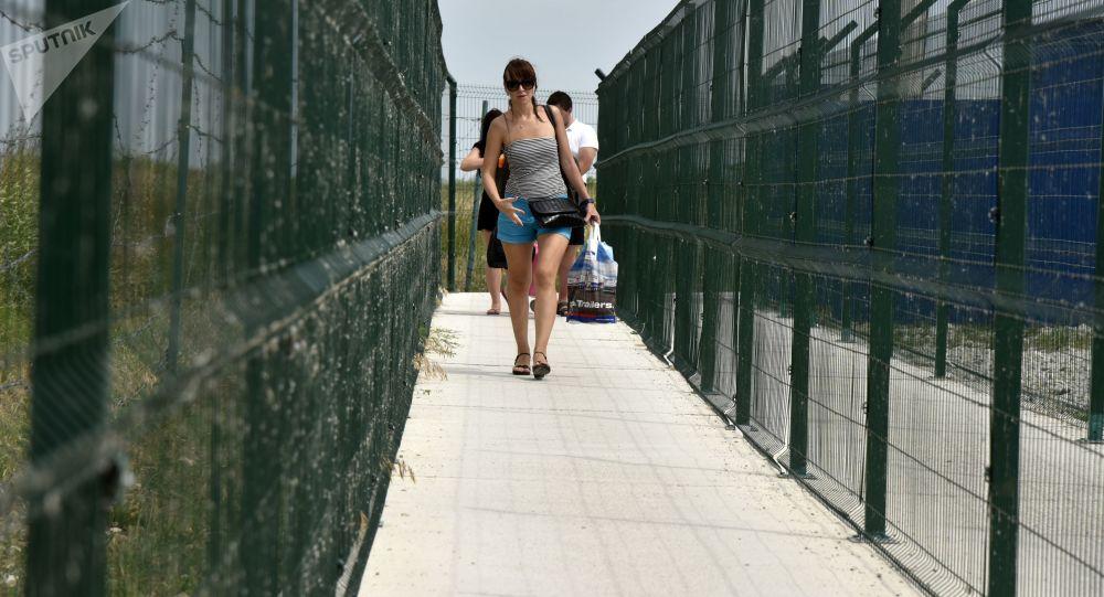 Kontrolní stanoviště na rusko-ukrajinské hranici