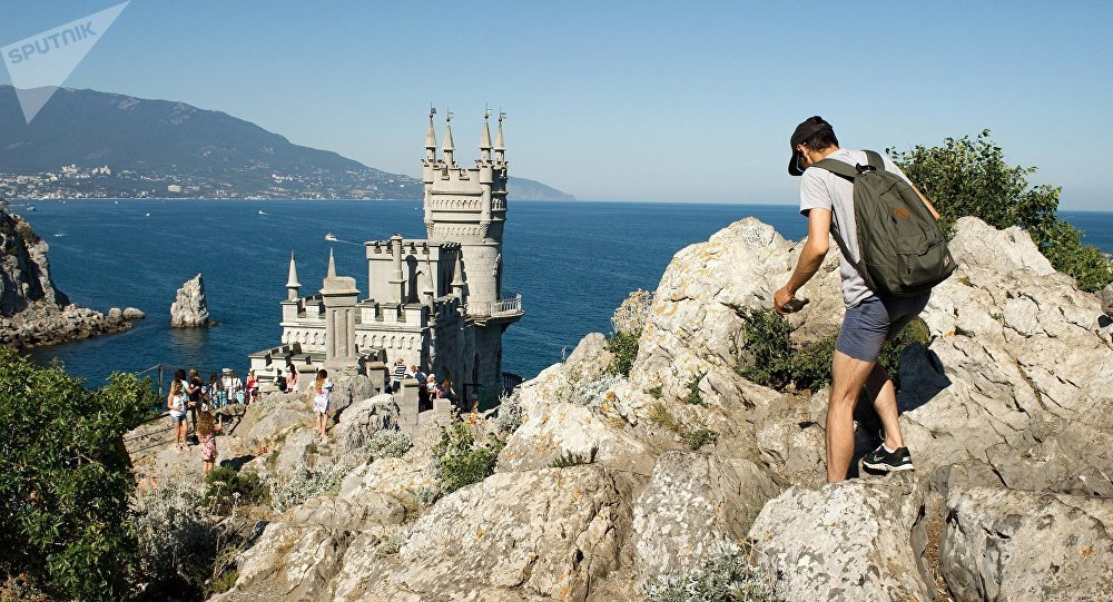 Vlaštovčí hnízdo na Krymu
