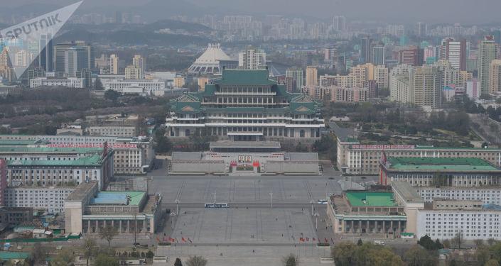 Pohled na náměstí Kim Ir-sen
