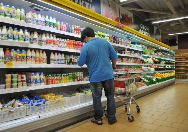 Obchod s potravinami. Ilustrační foto