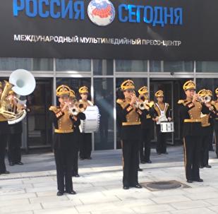 Vystoupení vojenského orchestru Ministerstva obrany RF v agentuře Rossija Segodnia
