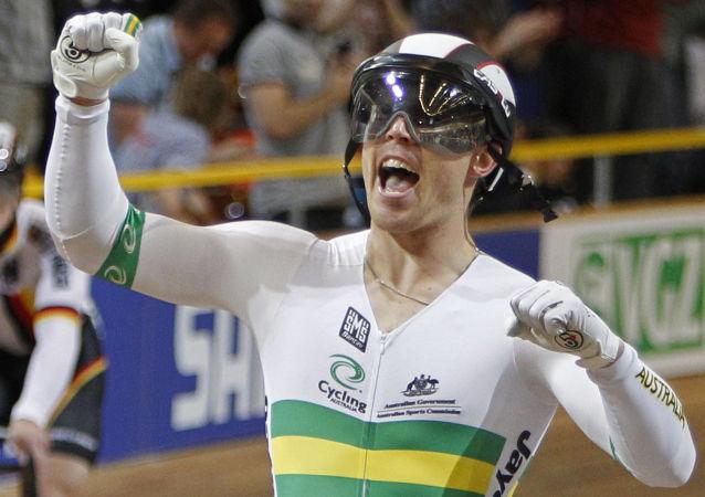 Mistr světa v dráhové cyklistice Shane Perkins