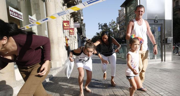 Místo útoku v Barceloně