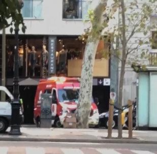 Záběry z místa útoku v Barceloně